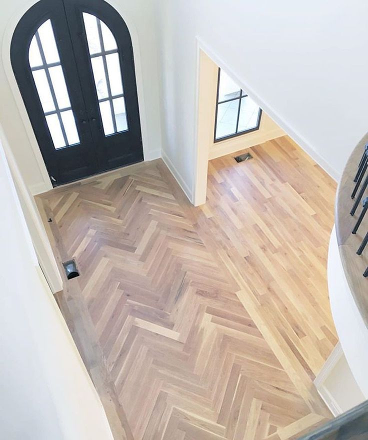 Classical Hallway Look In Wood Tile Herringbone Style Tom Can